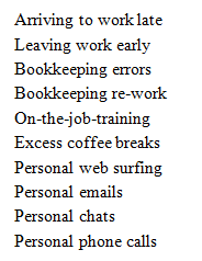 Bookkeeper Time Wasters