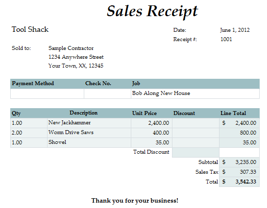 Fast Easy Accounting Bookkeeping Services Example Tools Receipt