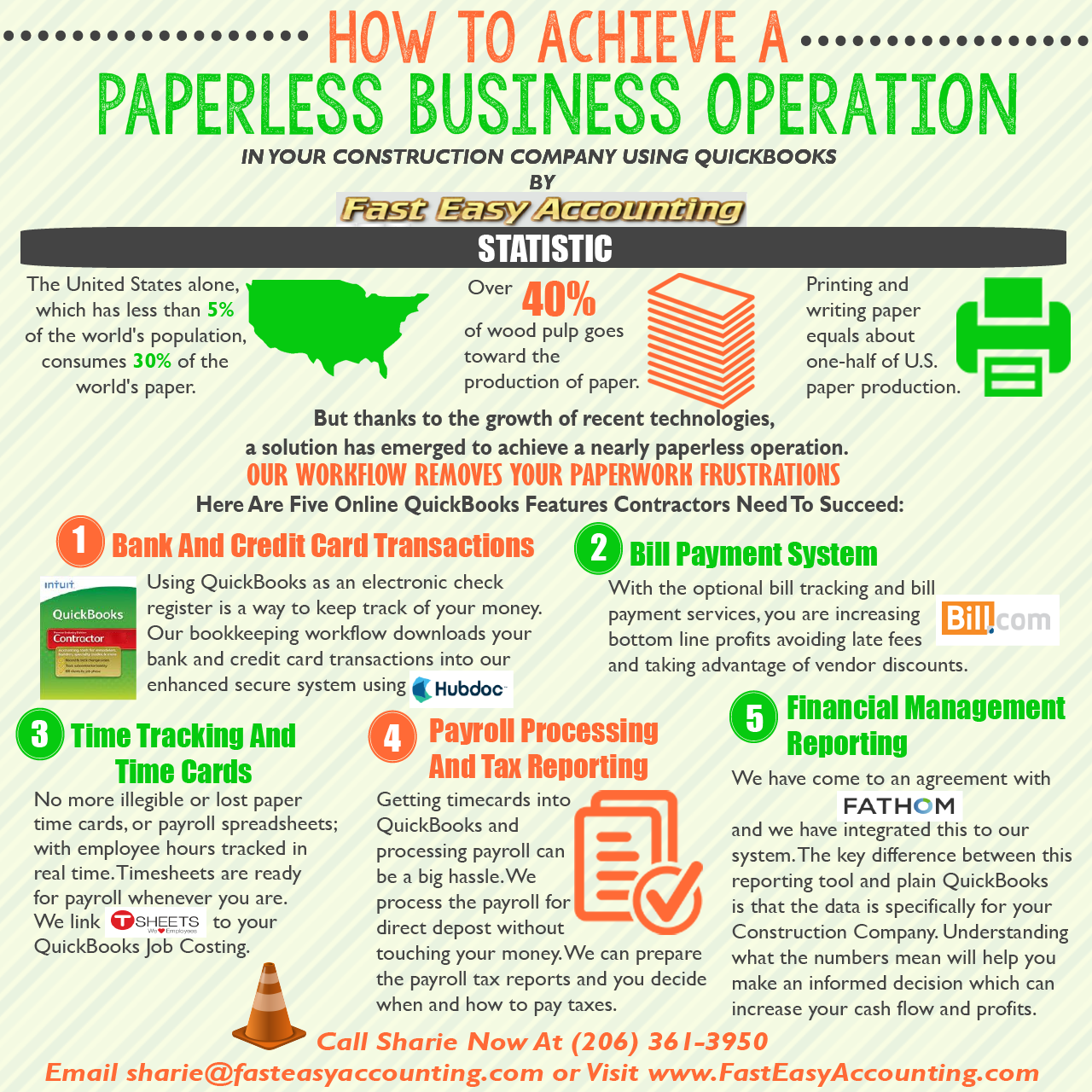 Fast Easy Accounting Bookkeeping Services Free Change Order Template