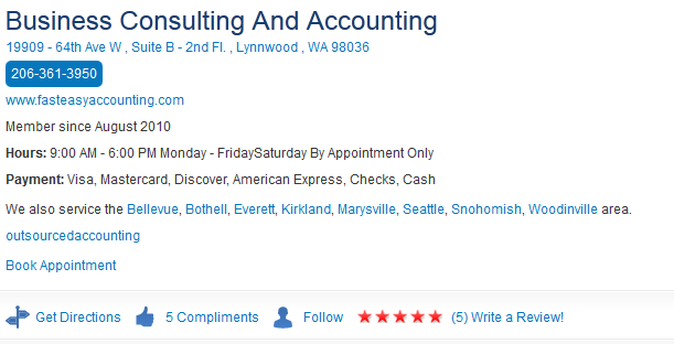 Fast Easy Accounting Merchant Circle Profile