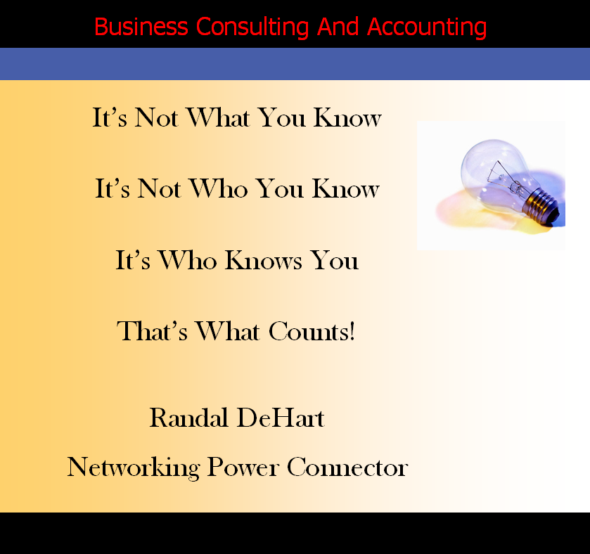 Fast Easy Accounting Strategic Contractors Bookkeeping Services Networking Power Connector Randal DeHart