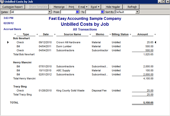 Fast-Easy-Accounting-Uses-QuickBooks-Unbilled-Costs-By-Job