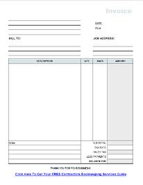 Construction Invoice Template Pasoevolistco - Contractor template invoice