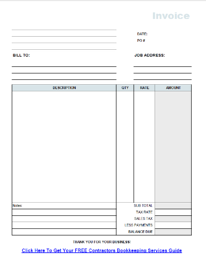 free contractor invoice template on excel