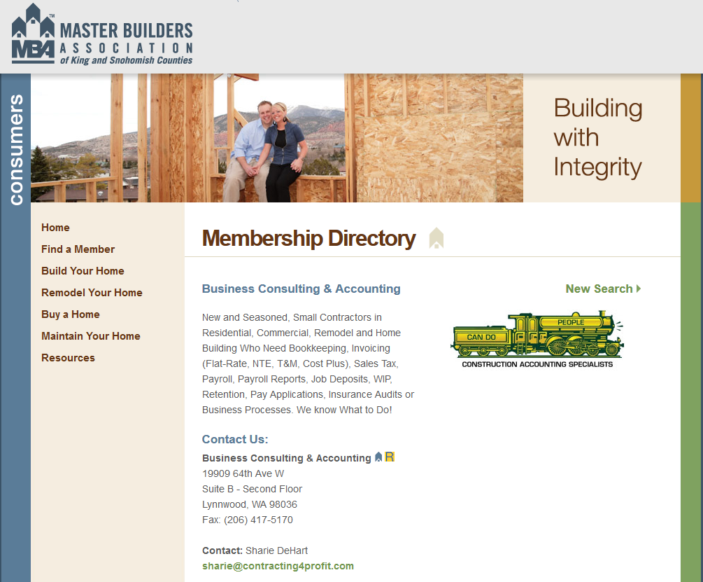 Master Builder Association Fast Easy Accounting Profile