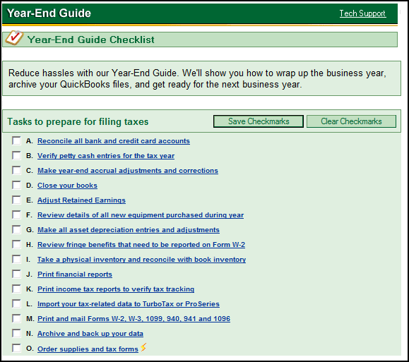 Quickbooks Year End Close Out Tips