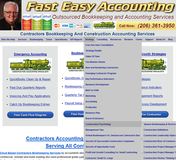 Construction Psychology at Fast Easy Accounting Contractors Bookkeeping Services 206 361 3950