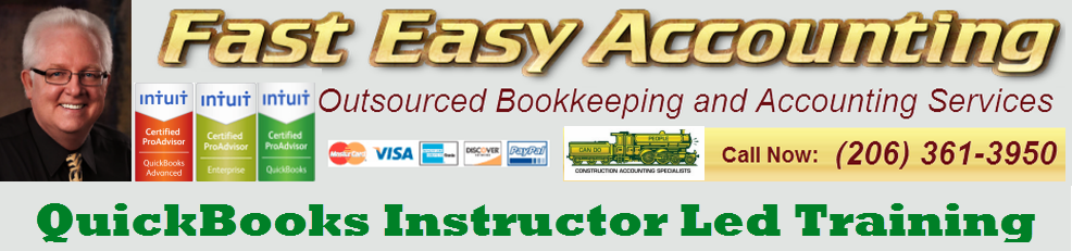 QuickBooks Pro Premier Enterprise Instructor Led Training At Fast Easy Accounting 206 361 3950