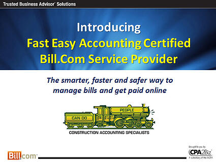 Fast Easy Accounting 206-361-3950 Bill.Com Certified Services Provider