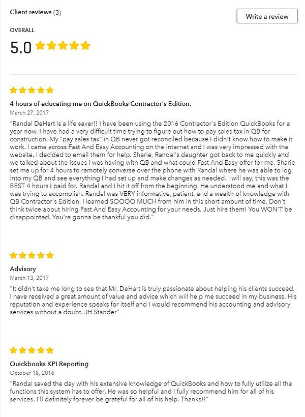 Client Reviews From Intuit