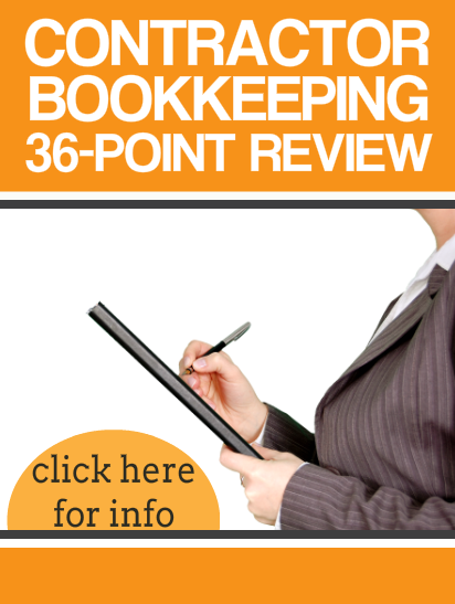 36-Point Contractor Bookkeeping Review