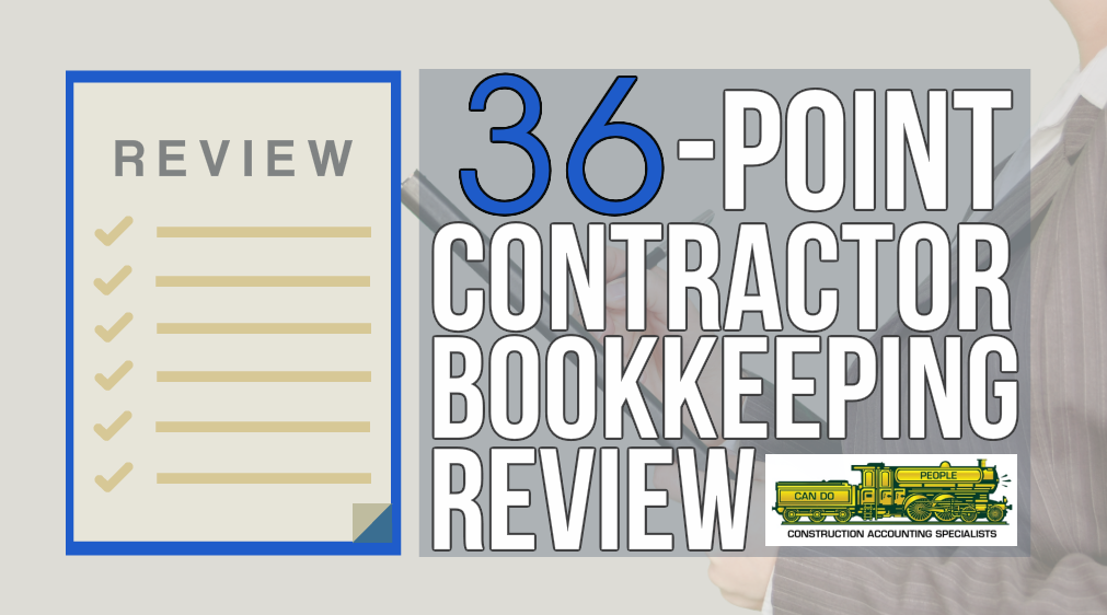 Contractor Bookkeeping Review