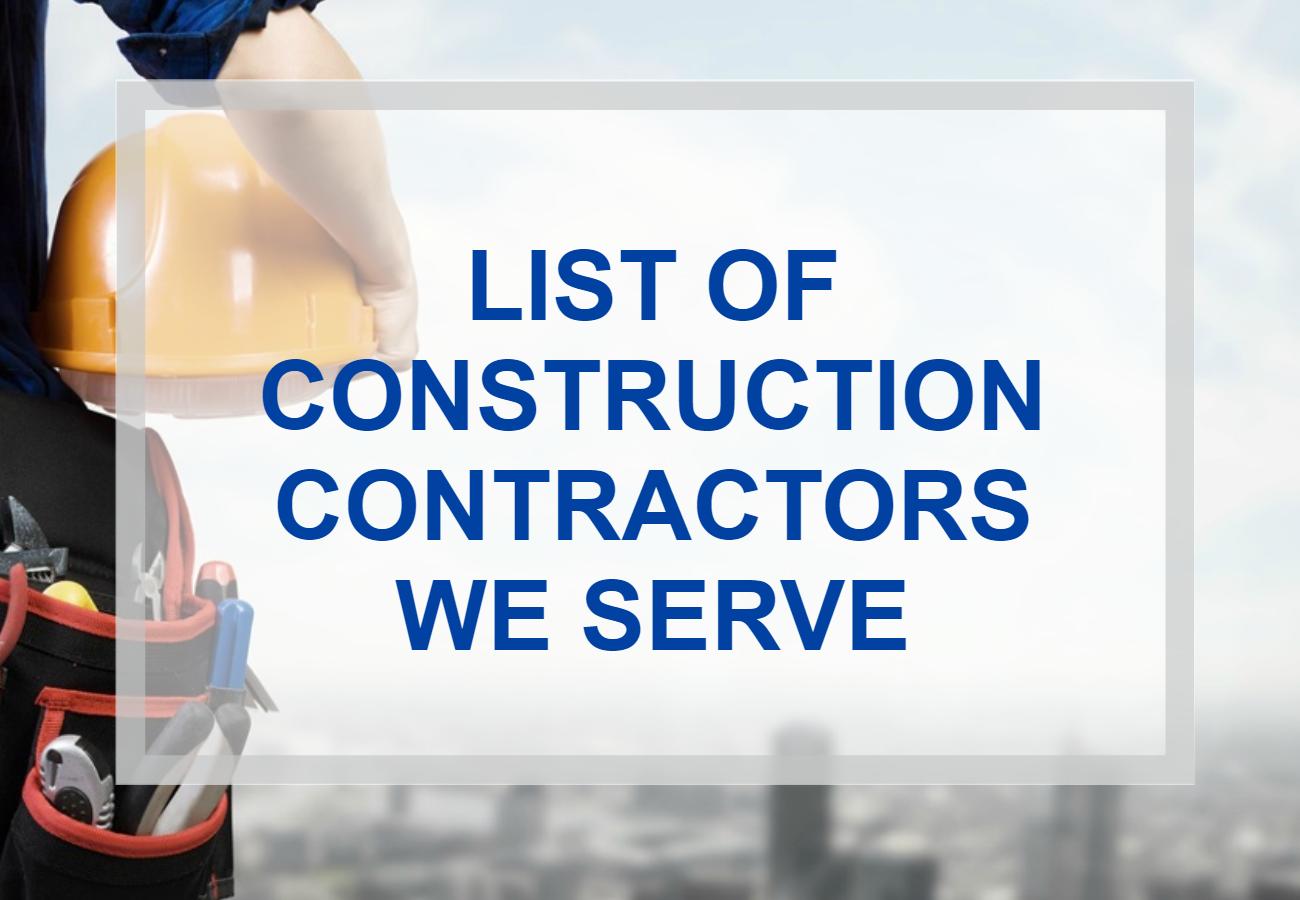 List of Contractors