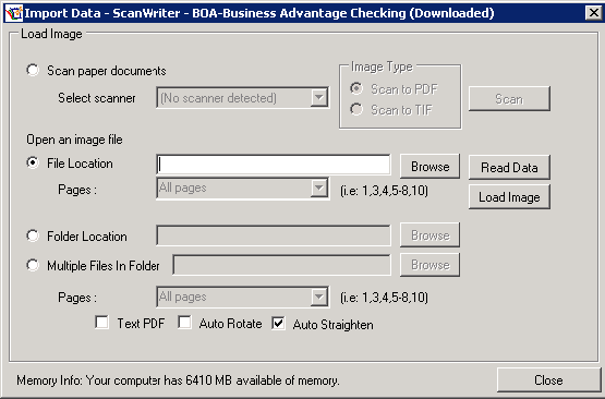 ScanWriter Import